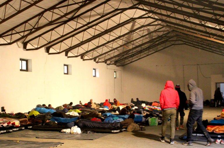 بلاژوی کمپ. انځور: بوسنیا کې د کډوالۍ نړیوالې ادارې له فېسبوک پاڼه