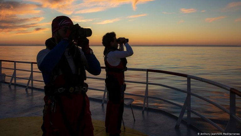 The crew of Ocean Viking is on the look out for boats in distress   Photo: Anthony Jean/SOS Mediteranee