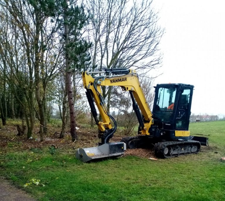 A piece of land at Fort Nieulay, between Calais and Coquelles, was cleared in mid-November. Credit: Human Rights Observers