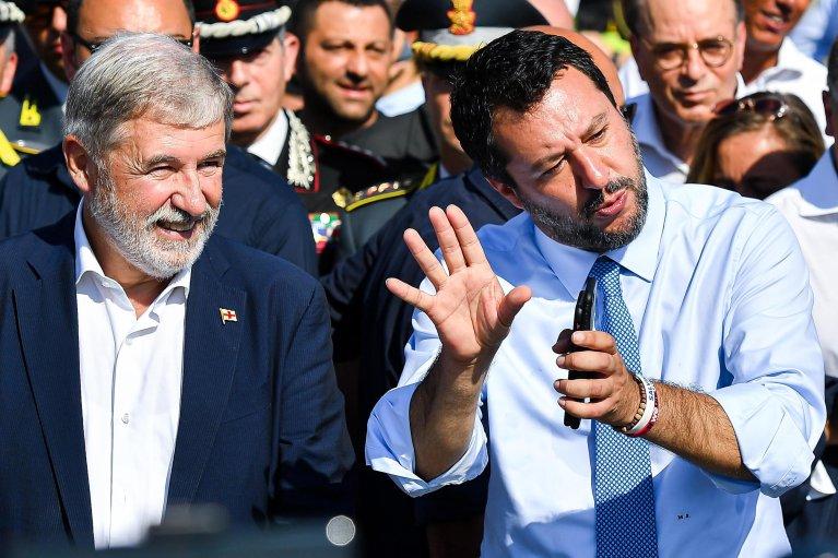 ANSA / ماتيو سالفيني وزير الداخلية الإيطالي.