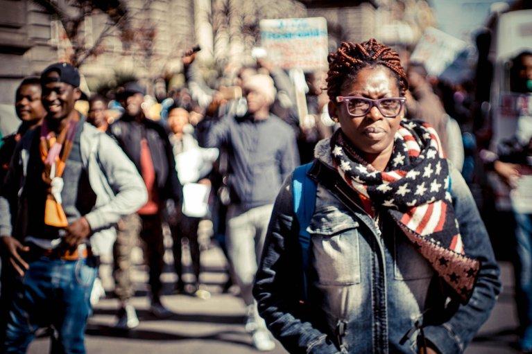 مسيرة مناهضة للعنصرية في نابولي المصدر: ANSA/ سيزاري اباتي