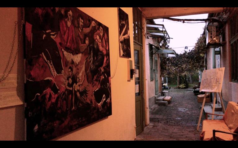 The AIDRom courtyard. Copyright: InfoMigrants