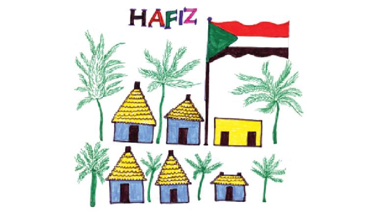 Grâce à l'aide du collectif Dessins sans papiers, Hafiz a raconté son histoire à l'aide de dessins. Crédit : Hafiz Adem / Dessins Sans Papiers