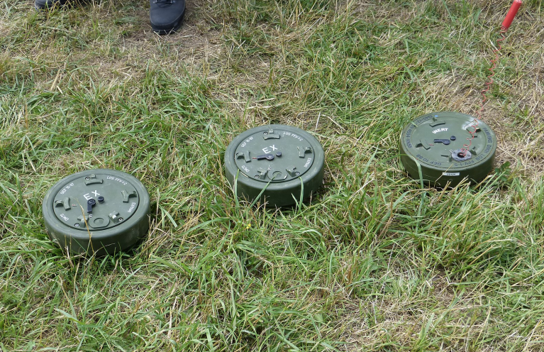 An example of anti-personnel mines   Source: Wikipedia
