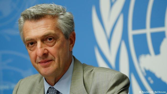 Reuters/D. Balibouse  فيليبو غراندي المفوض السامي الأممي لشؤون اللاجئين