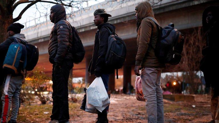 L'évacuation du campement de la porte de la Villette, dans le nord de Paris a eu lieu jeudi 31 janvier. Crédit : REUTERS/Benoit Tessier