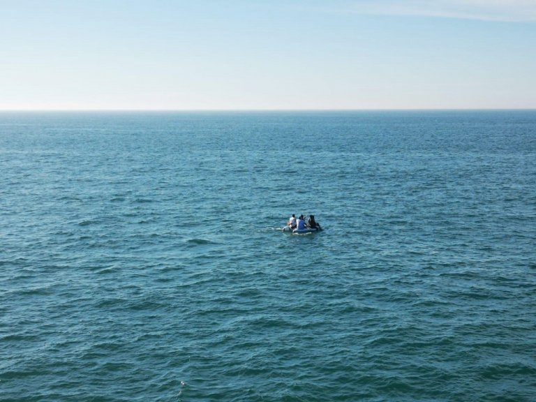 A small group of migrants attempt to cross the Channel on a small boat before being rescued by the French authorities | Source: Twitter feed of Maritime Prefecture for the Channel and the North Sea / InfoMigrants French