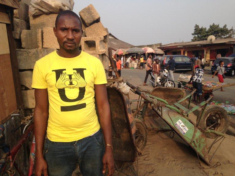 RFI/Bineta Diagne |Brahima Diallo, un migrant guinéen installé au Nigeria depuis huit ans.