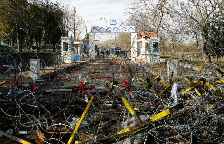 Le poste frontière de Pazarkule à la frontière entre la Turquie et la Grèce, le 2 mars 2020. Crédit : Huseyin Aldemir / Reuters