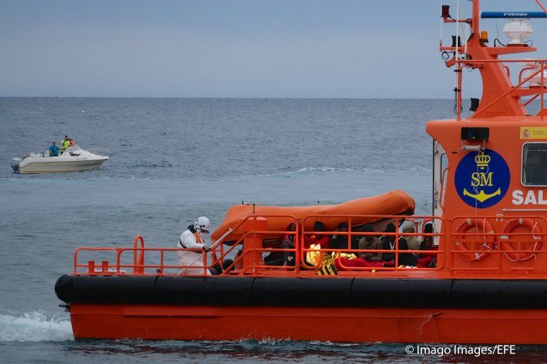 Spanish rescue authorities are facing a rise in boats arriving in the Canary Islands | Photo: Imago
