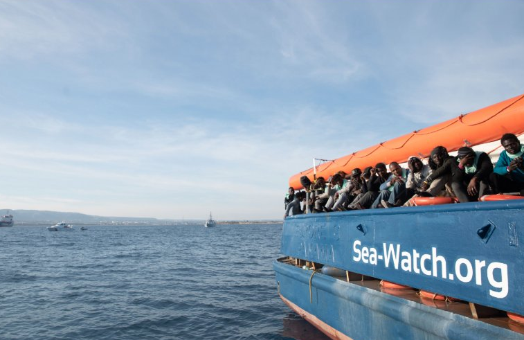 The Sea-Watch 3 in the Mediterranean Sea | Credit: Twitter @Sea-Watch International