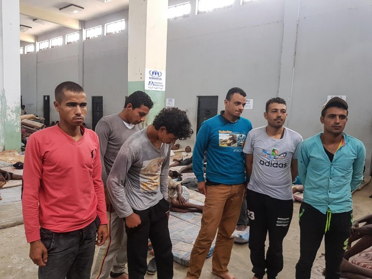 Migrants in the Libyan detention center in Zawiya | Credit: ANSA/ZUHAIR ABUSREWIL