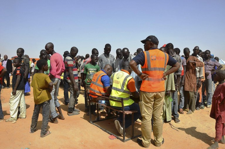 refugees in Nigeria   Credit: Epa/Str
