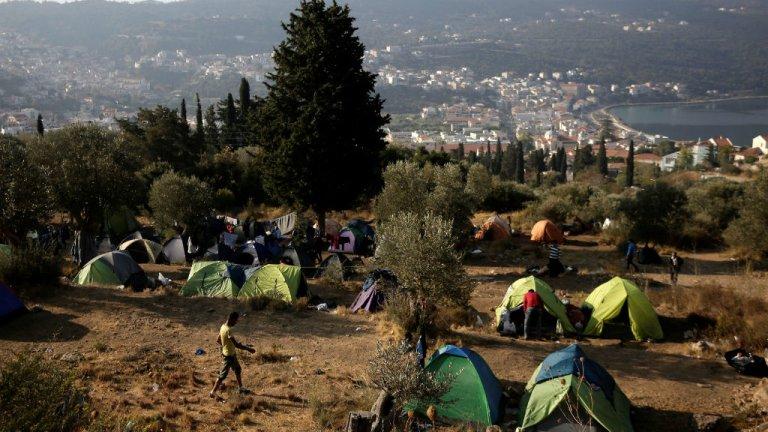 Le camp de Samos, en Grèce. Crédit : Reuters