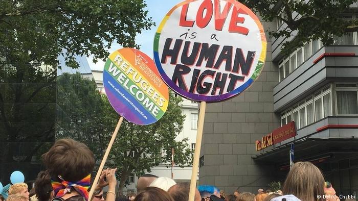 Demonstration for homosexual refugees