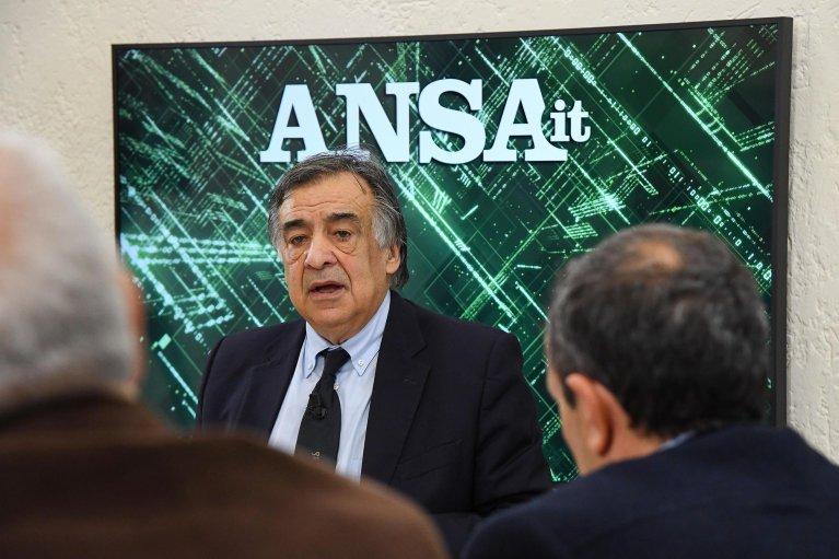 Palermo Mayor Leoluca Orlando at the ANSA forum. | Credit: ANSA