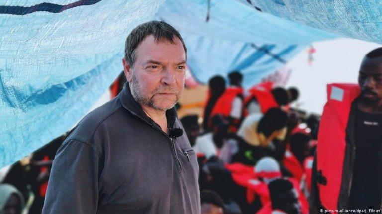 Le capitaine du Lifeline, Claus Peter Reisch. Crédit : picture-alliance/dpa/J. Filous (archive)