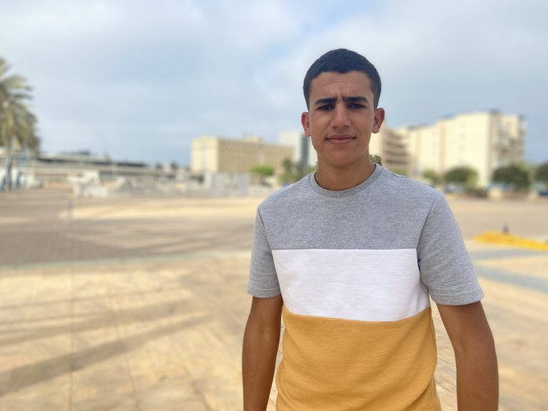 Ayoub, a 20-year-old undocumented Moroccan in Melilla | Photo: InfoMigrants