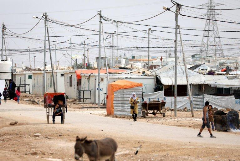 """ansa / مشهد من مخيم الزعتري للاجئين السوريين في الأردن. """"إي بي إيه""""/ أندريه بين"""