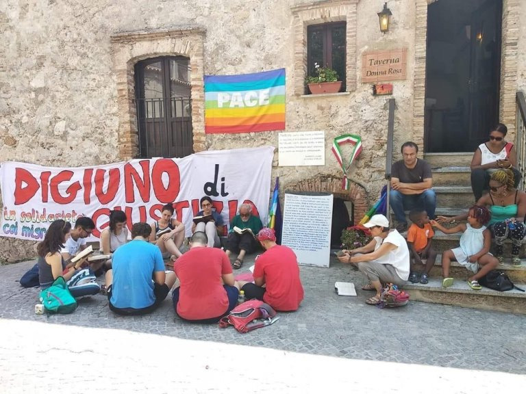 In the picture the mayor of Riace, Mimmo Lucano, during the hunger strike. Credit: mayor's office