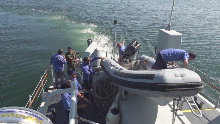 Un Zodiac Sillinger sur un bateau des garde-côtes libyens, au large de la Libye, en octobre 2019. Crédit : France 24