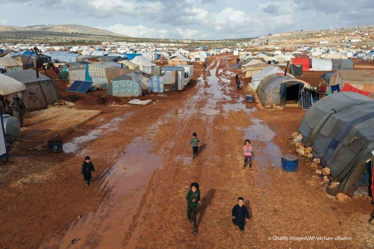 حال أوضاع الأطفال المهاجرين في مخيمات شمال سوريا