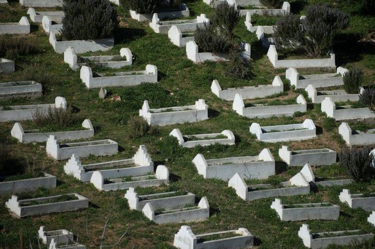 © JORGE GUERRERO/AFP |Le cimetière d'el-Tarajal dans l'enclave espagnole de Ceuta (Image d'illustration).