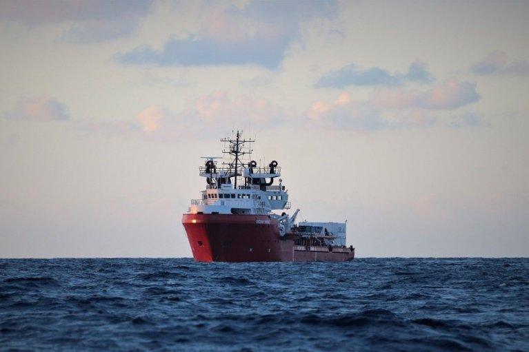 """سفينة """"أوشن فايكنغ"""". المصدر"""" أس أو أس ميديتيرانيه"""
