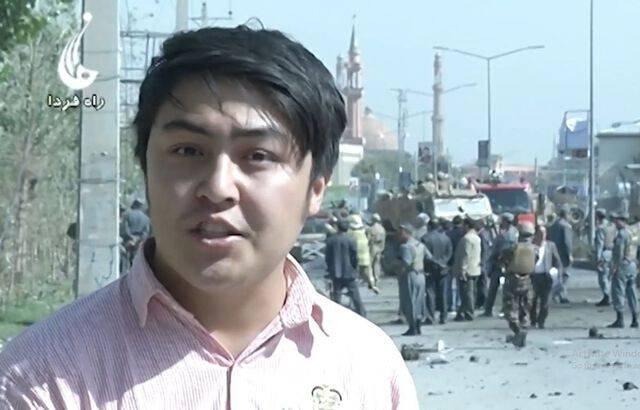الیاس احساس، گزارشگر پیشین تلویزیون محلی راه فردا در افغانستان. عکس از الیاس احساس
