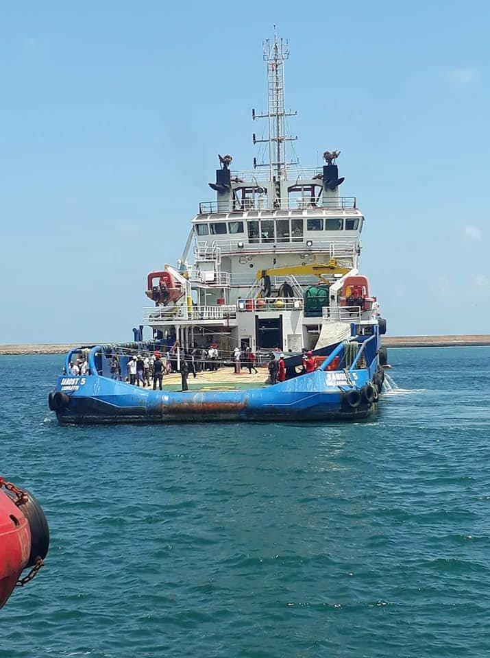 Le Sarost 5 a pu accoster en Tunisie mercredi 1er août 2018. Crédit : Chamesddine Marzoug