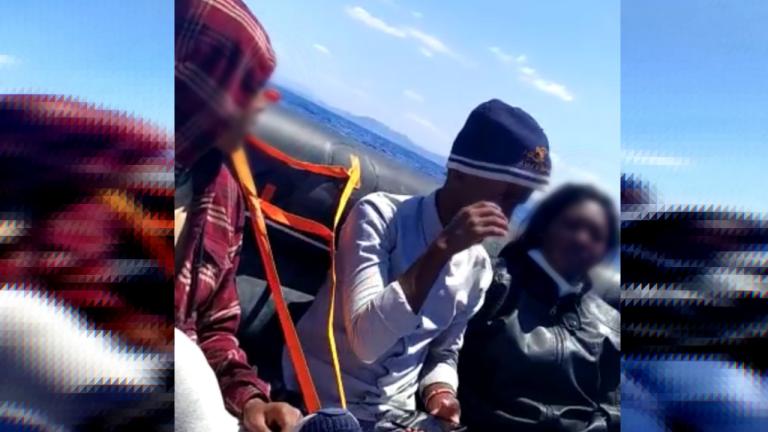 Les migrants, refoulés par les gardes-côtes grecs, ont attendu plusieurs heures en pleine mer que les secours viennent les chercher. Crédit : DR