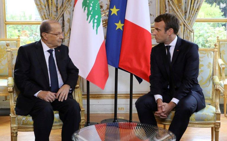 REUTERS/Ludovic Marin |Emmanuel Macron a reçu pour une visite d'Etat de trois jours son homologue libanais Michel Aoun. Paris, le 25 septembre 2017.
