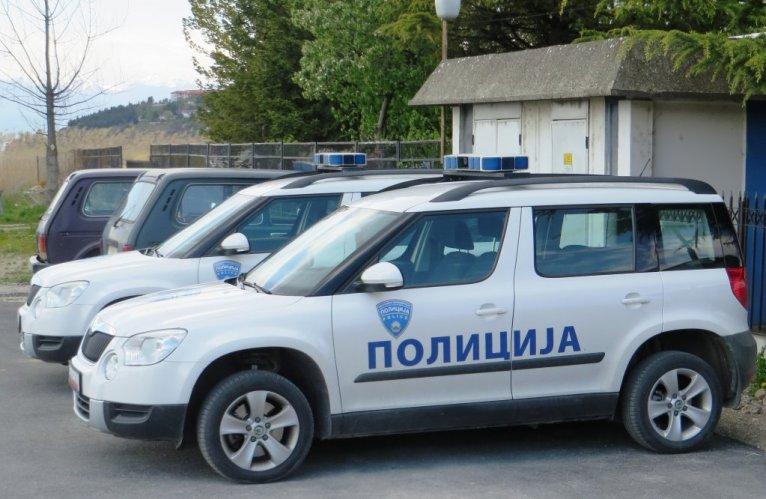 Des véhicules de police en Macédoine du Nord. Crédit : DR