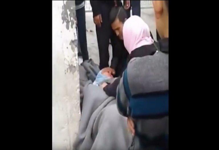 Capture d'écran - Vidéo prise par Nawal (militante) à Moria en mai 2017.
