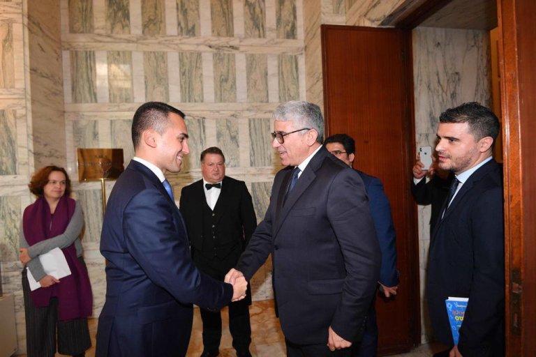 Italian Foreign Minister Luigi Di Maio meets Libyan Interior Minister Fathi Bashagha at the Italian Foreign Ministry in Rome, Farnesina Palace, 3 February 2020 |Photo: EPA/Claudio Peri
