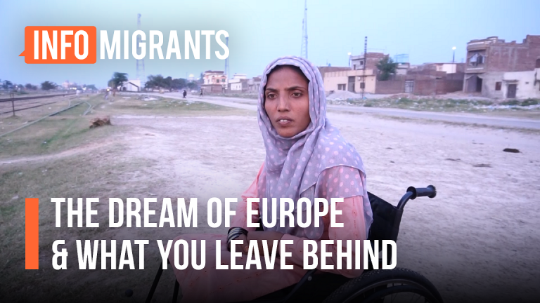 Rubina'a brother left Pakistan for Europe five years ago and has been missing ever since | Soure: Screenshot InfoMigrants