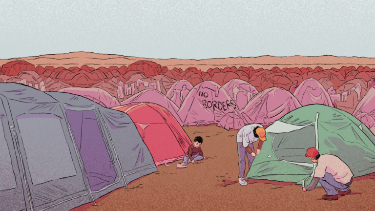 لعبة فيديو مستوحاة من رحلة لاجئة على طريق البلقان