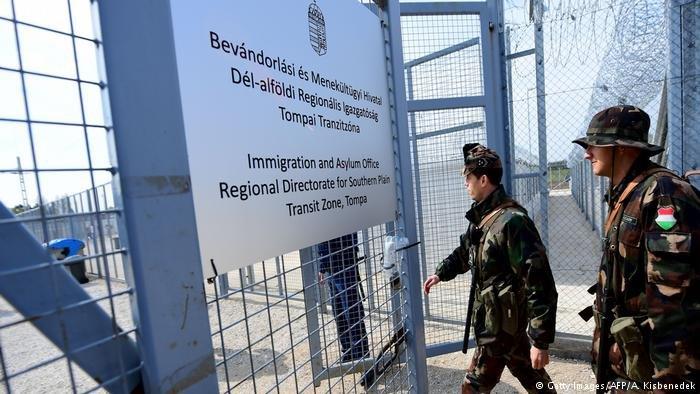 Hungary migrant transit zone