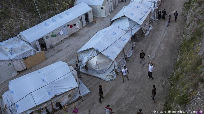 Refugee camp on the Greek island of Chios