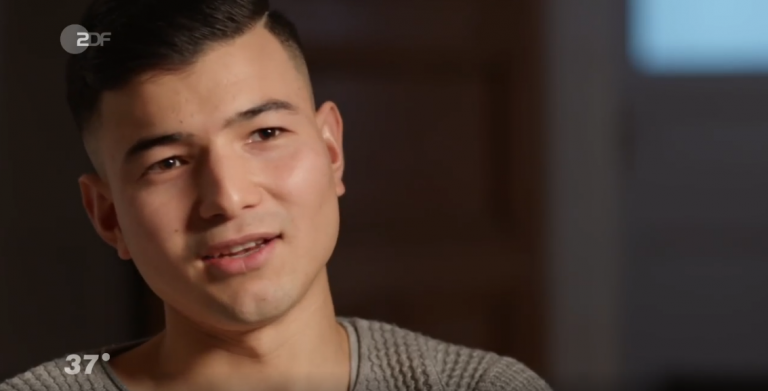 Samir is the subject of a ZDF documentary. The team has been following Samir since 2015 when he arrived in Germany aged 15 as an unaccompanied minor   Credit: Screenshot ZDF documentary