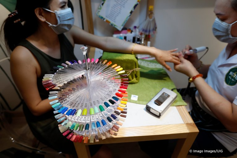 Nail salons or 'nail bars' are places where Vietnamese are often exploited | Photo: Imago images