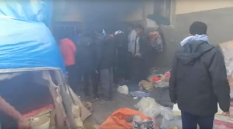 Un incendie s'est déclaré le 1er décembre 2019 dans le centre de détention de Zintan, en Libye. Crédit : DR