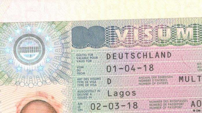 تأشيرة صادرة عن ألمانيا