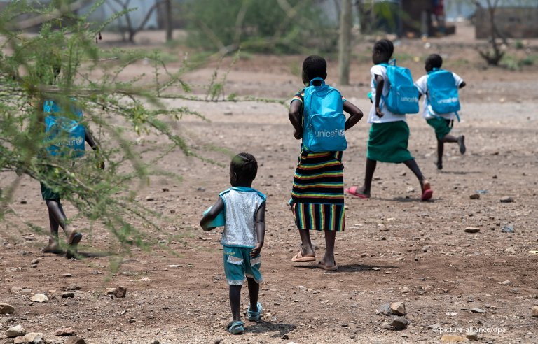 From file: Refugee children in Kakuma camp in February 2020   Photo: Picture-alliance/dpa/B.v.Jutrczenka