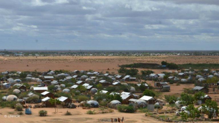 Avec au moins 235 000 réfugiés, les camps de Dadaab au Kenya figurent parmi les plus peuplés au monde. Crédit : UNHCR