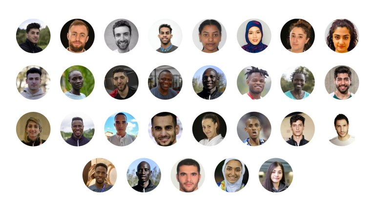 The 29 members of the Refugee Olympic Team for the Tokyo Olympics | Source: screenshot taken from Olympics.com on June 9, 2021