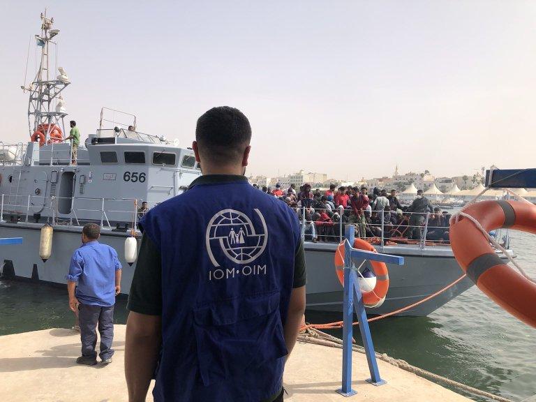187 migrants were intercepted on May 27 by the Libyan coast guard | Photo: IOM Libya 2021