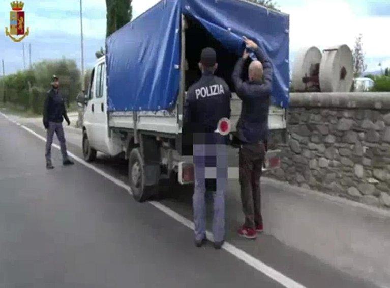 A police operation against labor exploitation in Tuscany, Italy   Photo: ANSA/Polizia di Stato