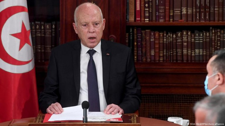 On July 25, Tunisia's President Kais Saied suspended parliament and took control of the country's executive branch   Photo: Slim Abid/picture-alliance