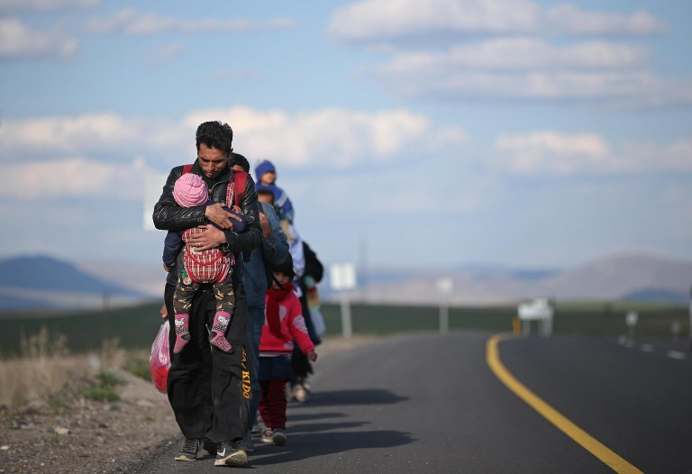 Refugees arrive in Turkey along a route to the west, in Erzurum. Credit: EPA/ERDEM SAHIN